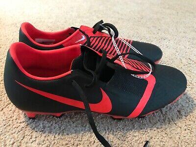 Nike Phantom VNM Soccer Shoes Black Red  Size 9
