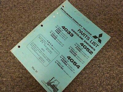 Mitsubishi 4g54 Engine For Fg30 Fg35a Fgc30 Forklift Parts Catalog Manual