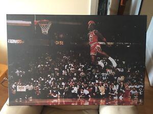 Famous Michael Jordan Foul Line Dunk Back boarded poster
