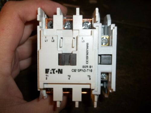 EATON CE15FN3-T16 CE15FN3Y14AB CONTACTOR C320KGS1 AUXILIARY (WL82)
