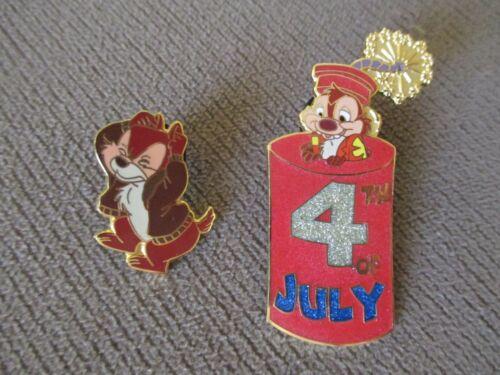 Disney Disneyland 4th of July 2001 Chip & Dale (2 Pin Set) LE 3600 (Pin 5624)