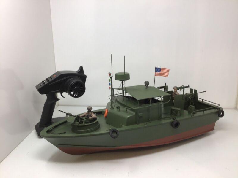 "Peddinghaus PBR R/C Military Vietnam Boat W/ STX2 Controller UNTESTED 22"" Long"