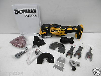 DEWALT DCS355 18V OSCILLATING MULTI TOOL BARE UNIT + 32PCE SET & FITMENTS