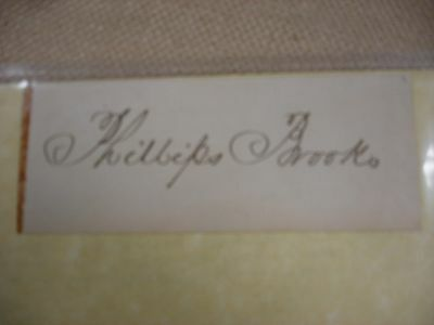 Philips Brooks Signature - Bible