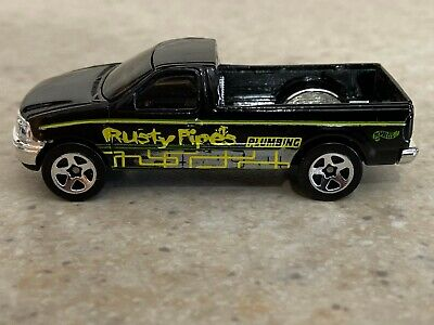 Hot Wheels Black 1997 Ford F-150 Rusty Pipes Plumbing - Loose