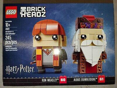 LEGO Brickheadz Albus Dumbledore 61 & Ron Weasley 60  BRAND NEW SEALED