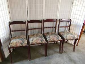 Lovely Antique dining chairs Mahogany Timber.