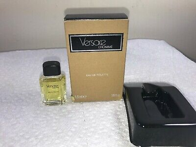VERSACE L'HOMME EDT MINI SPLASH 1/8 FL OZ MEN VINTAGE NEW IN BOX (P49)