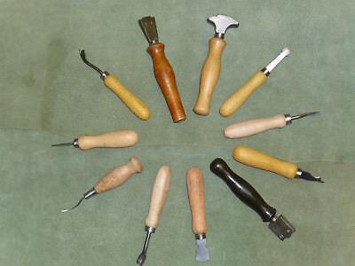 altes Schuhmacherwerkzeug Konvolut, shoemaker tools 20-teilig, NOS,
