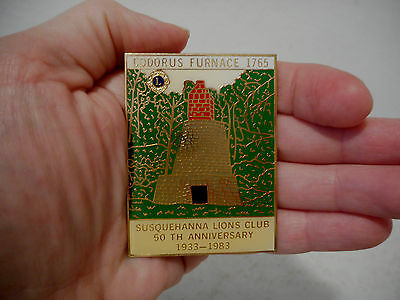 Lions Club Codorus Furnace 1765 Susquehanna Lions Club 50Th Ann  1933 1983 Pin