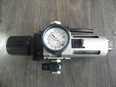 SMC Filter Regulator Unit, # EAW3000, W/ Pressure gauge, USED, WARRANTY