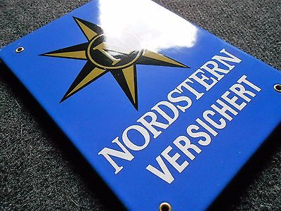 Nordstern versichert altes Emailschild > 1975 TOP