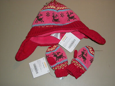 NWT Gymboree~~Colorful Village~~Knit Deer Hat and Mittens  Size 18-24m