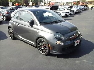 2015 FIAT 500 ABARTH- POWER GLASS SUNROOF, LEATHER HEATED SEATS,