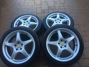 MAGS 17' 5X105 + SUMMER TIRES 400$