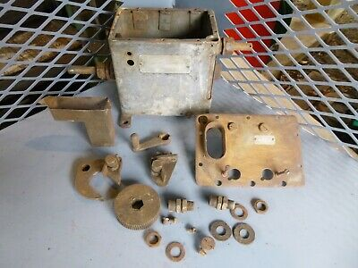 Antique Hit And Miss Steam Engine Manzel Xd Lubricator Parts Rumney Oil Pull