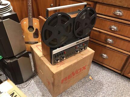 REVOX A-77 mk 3 reel to reel recorder. Serviced in original box!