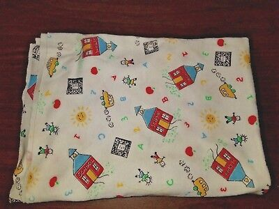School Theme ABC's Print Fabric stretch jersey knit  68