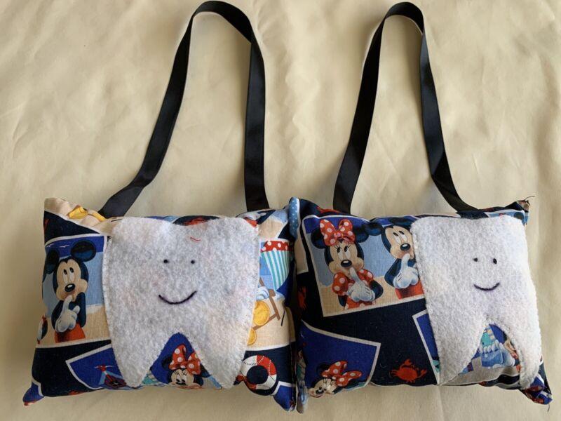 *1 Tooth Fairy Hanging Kids Pillow Mickey/ Minnie Blue Red Crab Beach Handmade