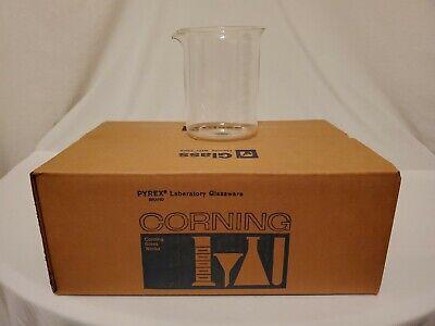 Vintage 5 Pyrex Laboratory Glassware Pyrex Corning 1000 Ml Beakers New In Box