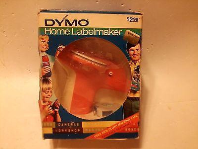 Vintage 1972 Dymo Home Label Maker Model 1800 Orange