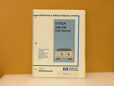 Hp Agilent 11715-90004 11715a Am Fm Test Source Operating Service Manual