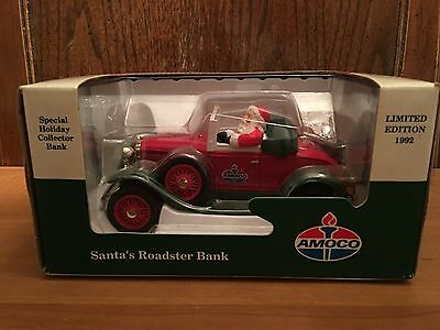 1992 LIMITED EDITION SPECIAL HOLIDAY BANK   1929 SANTAS MODEL ROADSTER MIB