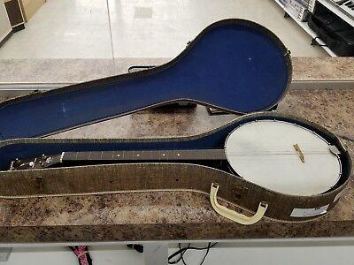 Harmoney Reso Tone Steel Re-Inforced Neck Banjo w/ Carrying Case.