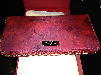 """VALENTINO GARAVANI Ladies PAINTED RED """"PETALE"""" WALLETw/ Tag, ORIG. $395"""