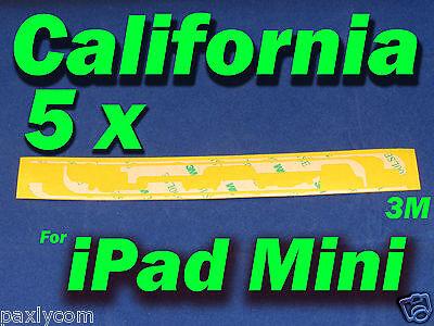5 pcs x Apple iPad Mini Adhesive Sticker Frame LCD Tape Touch Screen Digitizer