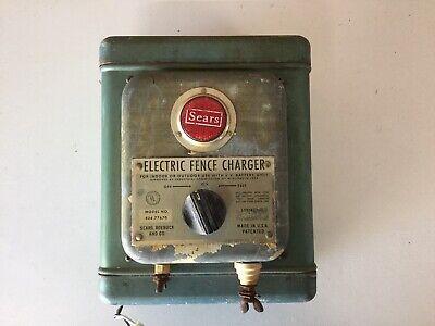 Vintage Sears Electric Fence Charger Model 436.77670 6 Volt Man Cave E3