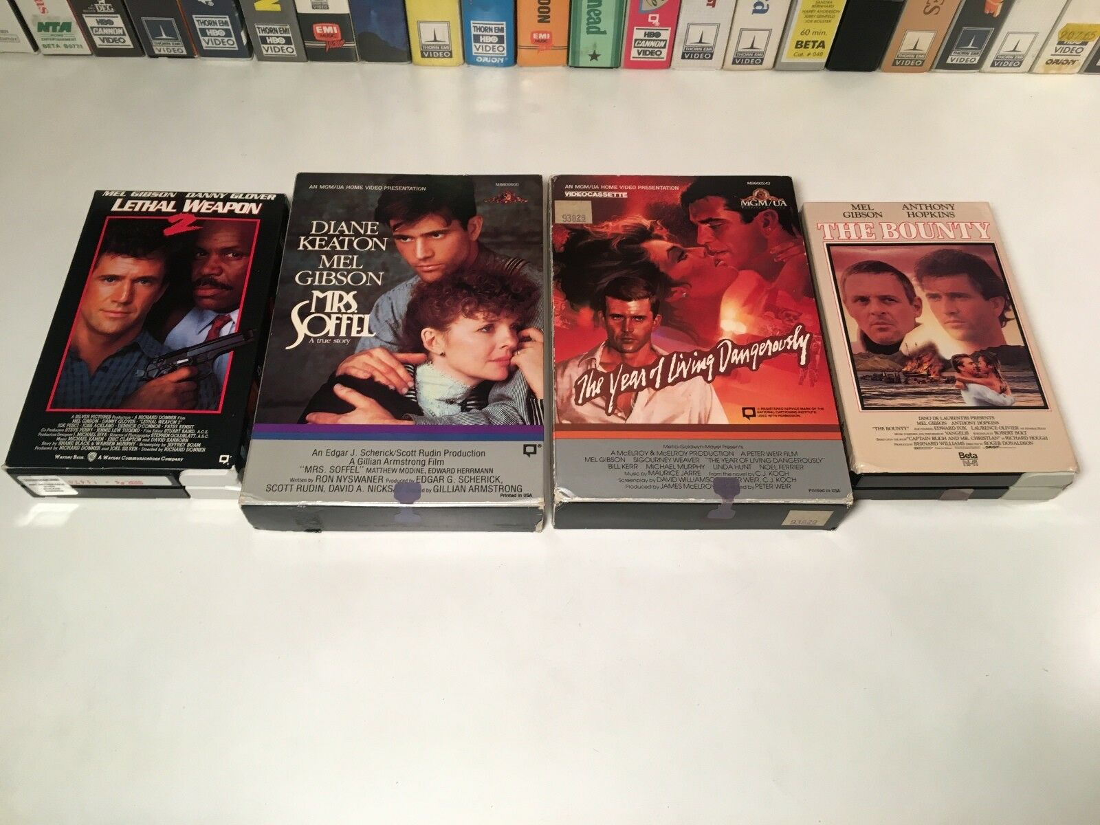 * Mel Gibson Betamax NOT VHS Beta Lot of 4 Lethal Weapon 2 The Bounty +