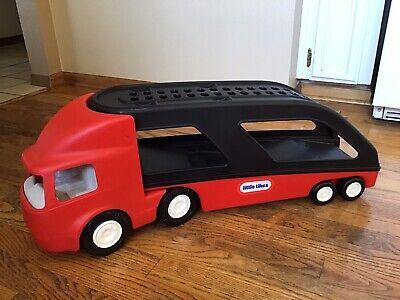 """Little Tikes Big Car Hauler Carrier Transport Semi Truck 28"""" Little Big Truck"""