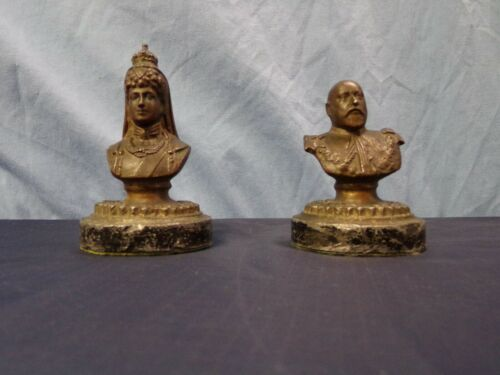 Antique King Edward VII and Queen Alexandra BRONZE Figures (Clyde Co.)