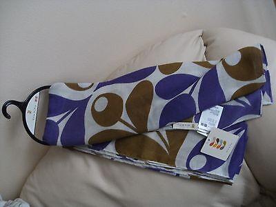 Orla Kiely Acorn Print Scarf/Stole/Shawl/Pashmina Olive ad Purple by Uniqlo BNWT