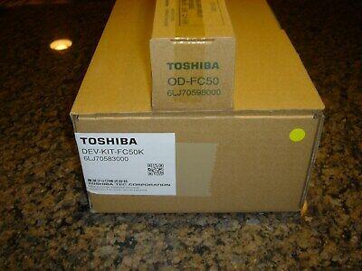 Genuine Toshiba Black Developer Kit DEV-KIT-FC50K & Drum OD-FC50 - NEW!!!