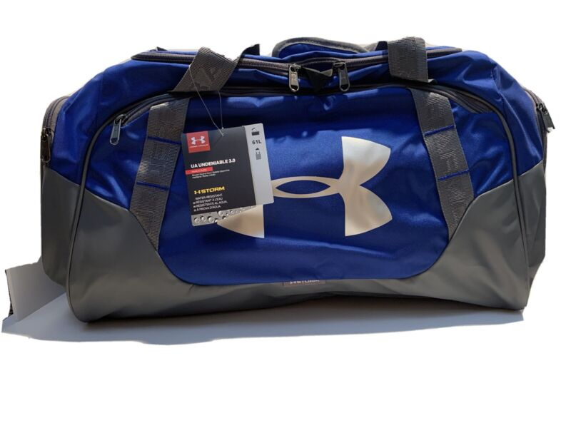 Under Armour Undeniable 3.0 Medium Duffel Royal and Silver