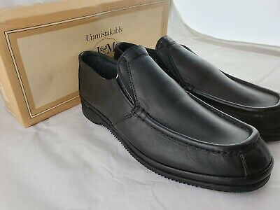 Johnston & Murphy After Hours Series Dress Shoe Black Leather Mens Size 9
