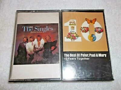 ABBA & Peter Paul & Mary Cassette Tape Music Lot