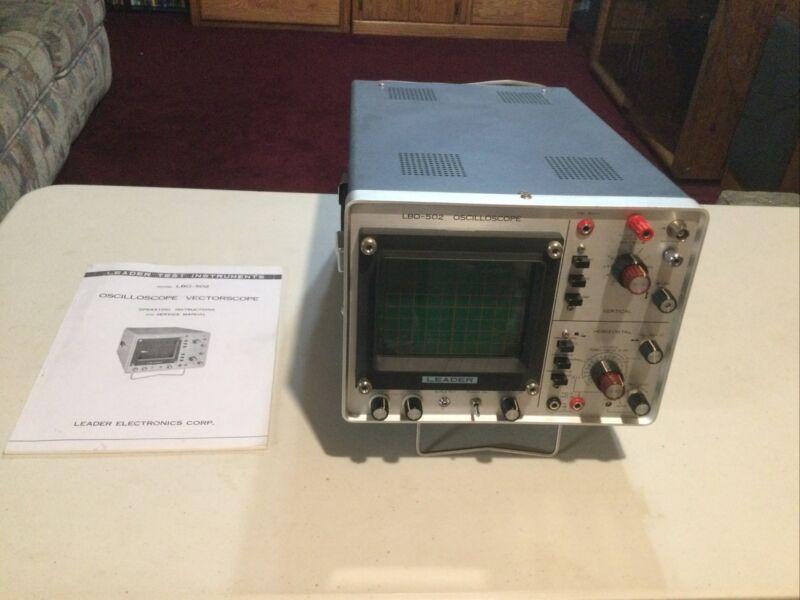 Leader oscilloscope LBO-502 great condition