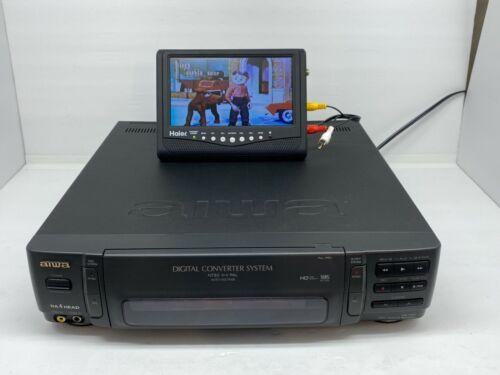 Aiwa HV-MX1U WORLDWIDE VHS PAL/NTSC VCR Player Recorder Digital Converter WORKS