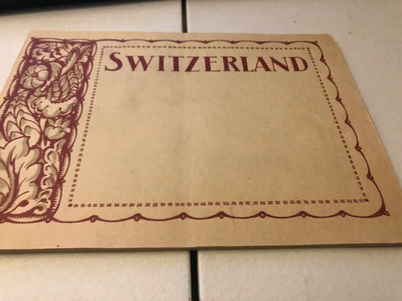 PHOTOGRAPHS OF SWITZERLAND VIEWS  BOOK  SWISS FEDERAL RAILWAYS 1921