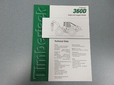 Timberjack 360 Grapple Skidder Sales Brochure 6 Pages