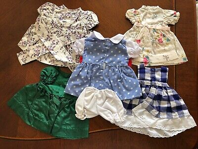Vintage lot of 5 Doll Dresses