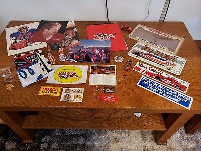 Bill Elliott Flags - Vtg Lot of Bill Elliott Memorabilia Flag Watch Car Bumper Stickers Pin Key Chain