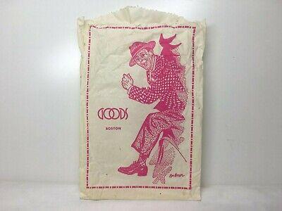 """Vintage 80s GOODS BOSTON Paper Bag KEN BROWN QUINCY MARKET STORE  5.5"""" x (Quincy Market Stores)"""