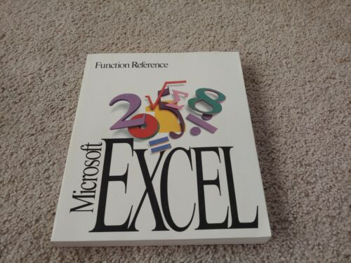 Microsoft Excel Function Reference (Vintage)