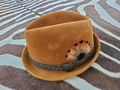 1950s Mens Hats | 50s Vintage Men's Hats Stetson 3X Beaver Felt Hat Caramel Briown Vintage Fedora Hat 1950's / 60's  EUC  $99.97 AT vintagedancer.com