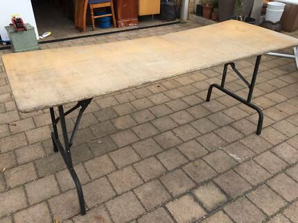 Timber Top Trestle Table
