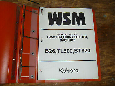 Kubota B26 Tractor Loader Backhoe Shop Service Repair Manual